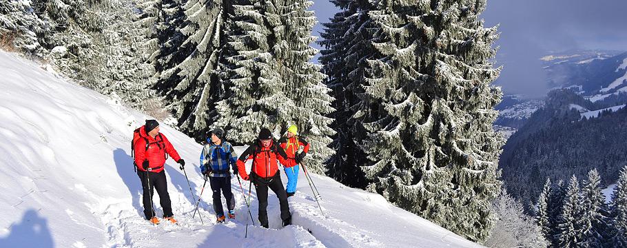 Aufstieg Winterübung Schuttannen