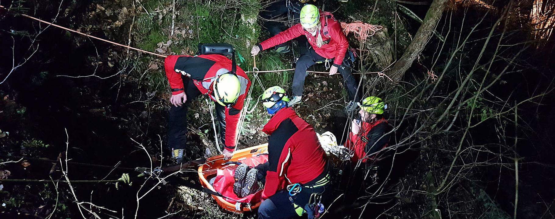 Einsatzübung Bike-Unfall Bergrettung Hohenems