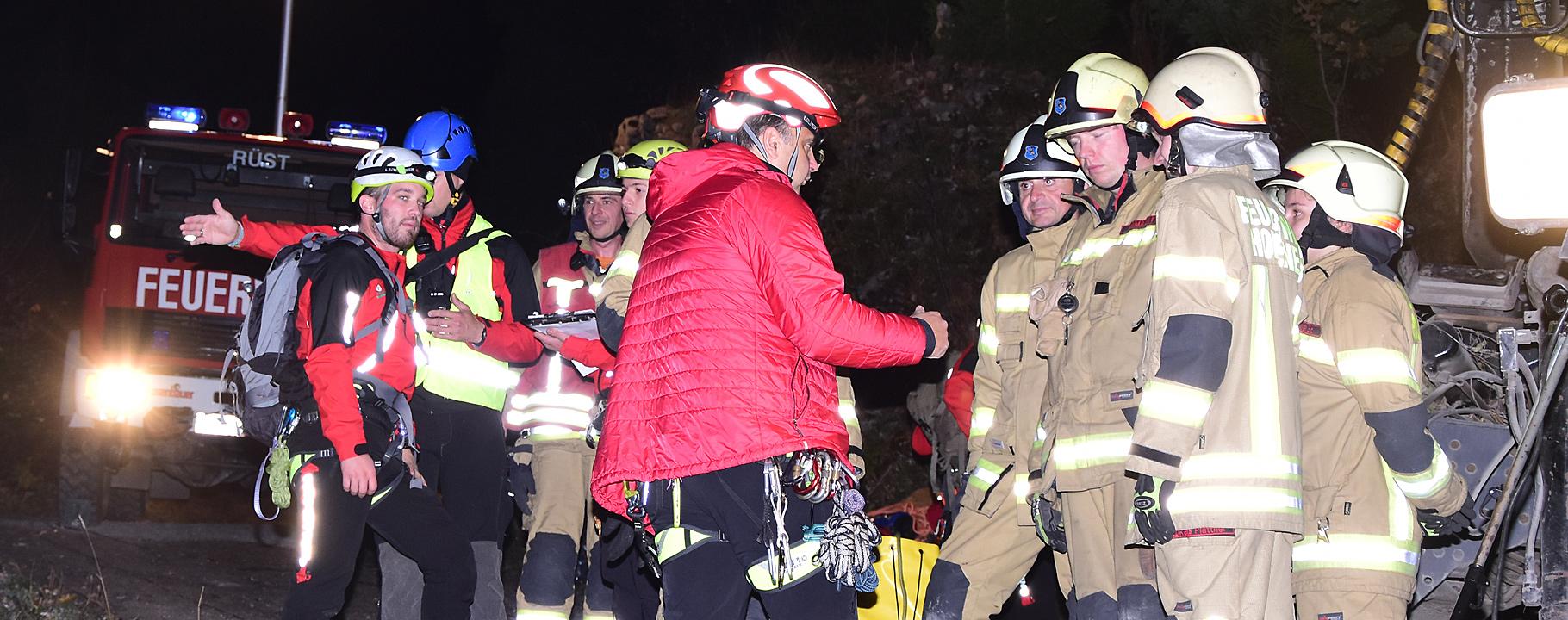 Zusammenarbeit Bergrettung und Feuerwehr Hohenems