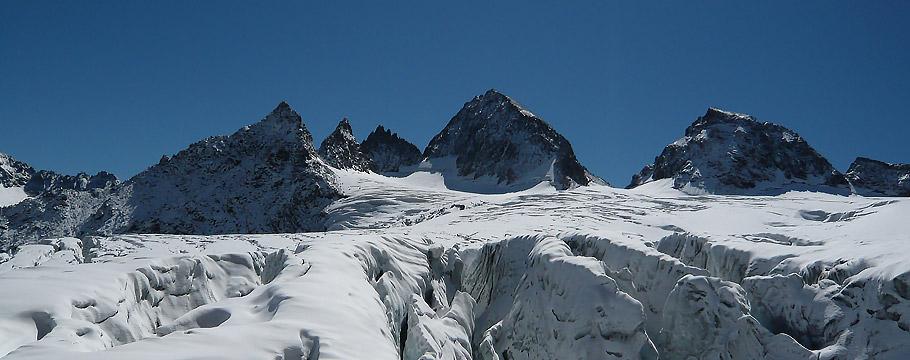 Ochsentaler Gletscher , Piz Buin - Buinlücke - kl Piz Buin